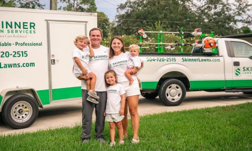 Skinner Lawn Services family photo Jacksonville Fl